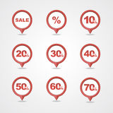 Mapping pins icons SALE Stock Image