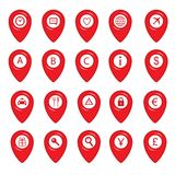Mapping pins icons Royalty Free Stock Photo