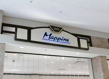 Mappins store sign on wall Stock Photo