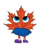 Mapple leaf cartoon Royalty Free Stock Photo