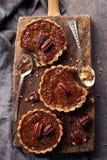 Mapple pecan tarts Stock Photos