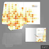 Mappmalldesign Royaltyfria Bilder