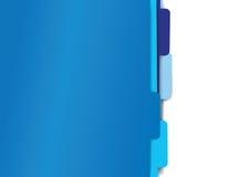 Mappmappar för blått papper Fotografering för Bildbyråer
