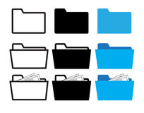 Mappsymbol stock illustrationer