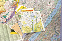 Maps. Of New York and suburbs stock photography