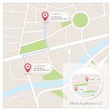Maps app Stock Images