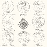 Maps atlas continents. Stock Image