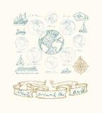 Maps atlas continents. Royalty Free Stock Photos