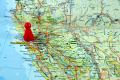 Maps of California Royalty Free Stock Images