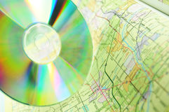 Maps on CD Stock Images