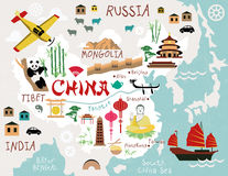 Maps of China Royalty Free Stock Photos