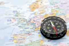 Maps and Compass Stock Image
