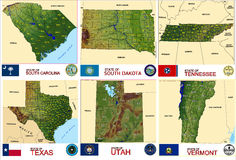 Maps counties USA states Royalty Free Stock Photo