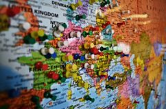 Maps europe czech republic Stock Photo