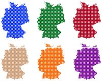 Maps of Germany in circles royalty free stock photography