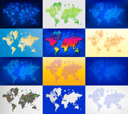 Maps globe Earth contour outline silhouette world mapping cartography texture vector illustration Royalty Free Stock Image