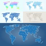 Maps globe Earth contour outline silhouette world mapping cartography texture vector illustration Stock Photo