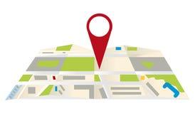Maps navigation. Gps map navigation concept illustration Royalty Free Stock Photo