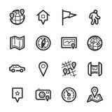 Maps and navigation icons – Bazza series Royalty Free Stock Photography