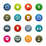 Maps and navigation icons – Kirrkle series Royalty Free Stock Photography