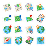 Maps & Navigation Icons - Set 1. Collection of maps and navigation icons that can be used for design projects Royalty Free Stock Photo