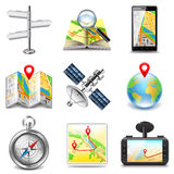 Maps and navigation icons vector set Royalty Free Stock Photos