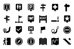 Maps And Navigation Vector Icons 3 Stock Images
