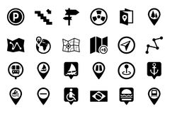 Maps And Navigation Vector Icons 4 Stock Image