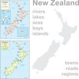 Maps of New Zealand Stock Photos