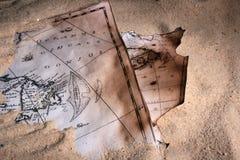 Maps_sand Royalty Free Stock Image