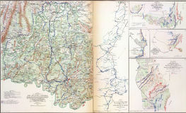 Maps of Sherman's Campaigns against Atlanta Stock Photos
