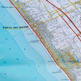 Maps showing some famous tourist locations in Versilia. Useful to indicate a specific place in Tuscany Italy like Forte dei Marmi and others places royalty free stock photography