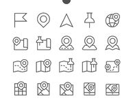 Maps UI Pixel Perfect Well-crafted Vector Thin Line Icons 48x48 Ready for 24x24 Grid for Web Graphics and Apps with. Editable Stroke. Simple Minimal Pictogram Stock Photos
