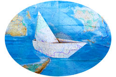 Maps on white background royalty free stock photography