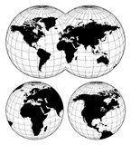 Maps of the world Royalty Free Stock Photo