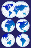 Maps of the world Royalty Free Stock Image