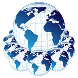 Maps of the world Royalty Free Stock Images