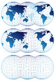 Maps of the world Stock Photography