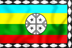 Mapuche Flag of Nagche Territory. Royalty Free Stock Photography