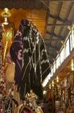 Mapuche handgjord poncho Fotografering för Bildbyråer