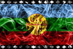 Mapuche smoke flag, Chile and Argentina dependent territory fla. G Royalty Free Stock Image