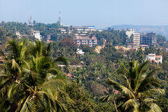 Mapusa goa india. Aerial landscape Royalty Free Stock Image