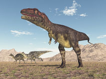 Mapusaurus and Velafrons Royalty Free Stock Photography