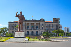 Maputo. City hall and statue of Michel Samora in Maputo, Mozambique Stock Images