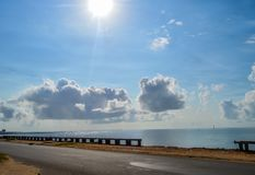 Maputo Beach Photos from Club Naval near Julius Nyerere road in stock photography