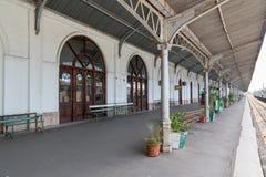 Maputo järnvägsstation Royaltyfri Foto