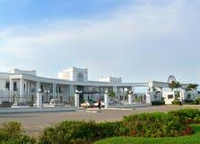 Maputo Mocambique - December 11, 2008: Det vita hotellet. Royaltyfria Bilder