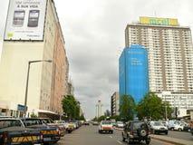 Maputo Mocambique - December 12, 2008: i huvudstaden av Mozamb Arkivbilder