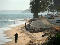 Maputo, Mozambique - December 11, 2008: in the capital of Mozamb Royalty Free Stock Image