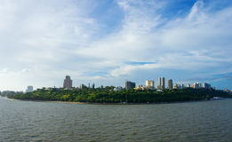 Maputo from the sea Royalty Free Stock Photos